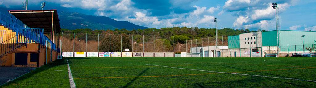 Fotografia de les instal·lacions del Camp de futbol municipal Font Martina